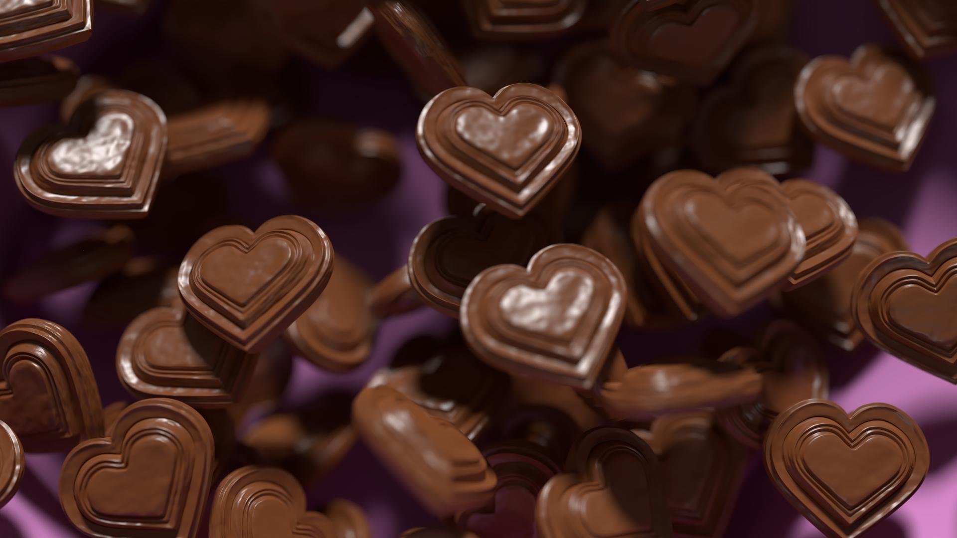 Schokoladeherzen