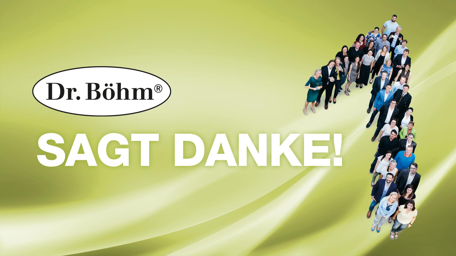 Dr. Böhm® sagt DANKE für die Auszeichnungen anlässlich des IQVIA OTC Mirror Awards 2020