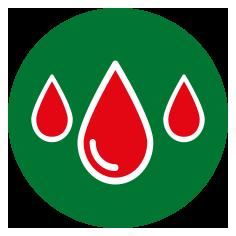 Blut wird über den Urin ausgeschieden.