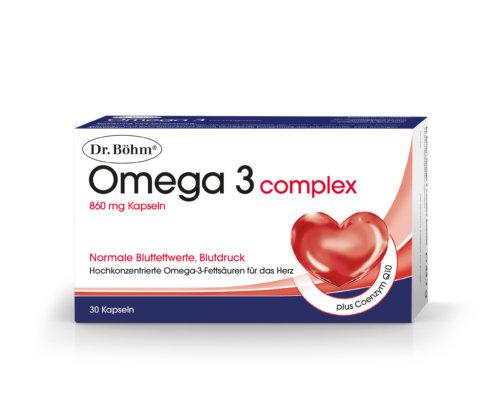 Dr. Böhm® Omega 3 complex - hochkonzentrierte Omega-3-Fettsäuren für das Herz