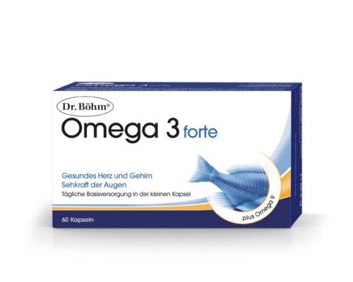 Dr. Böhm® Omega 3 forte - gesundes Herz und Gehirn, Sehkraft für die Augen