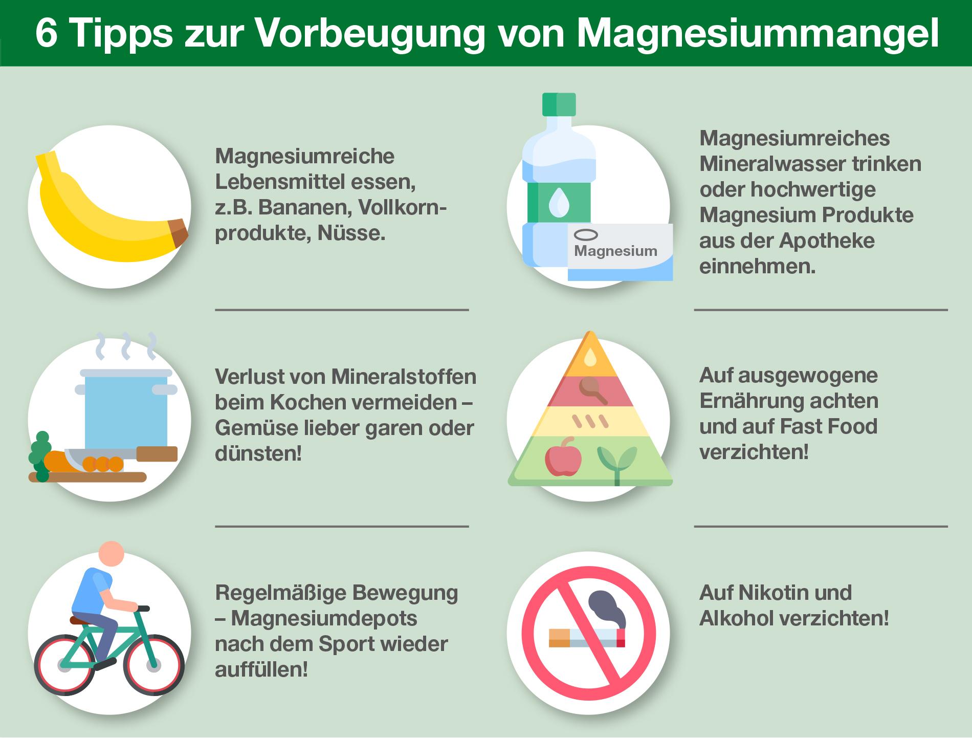 6 Tipps zur Vorbeugung von Magnesiummangel