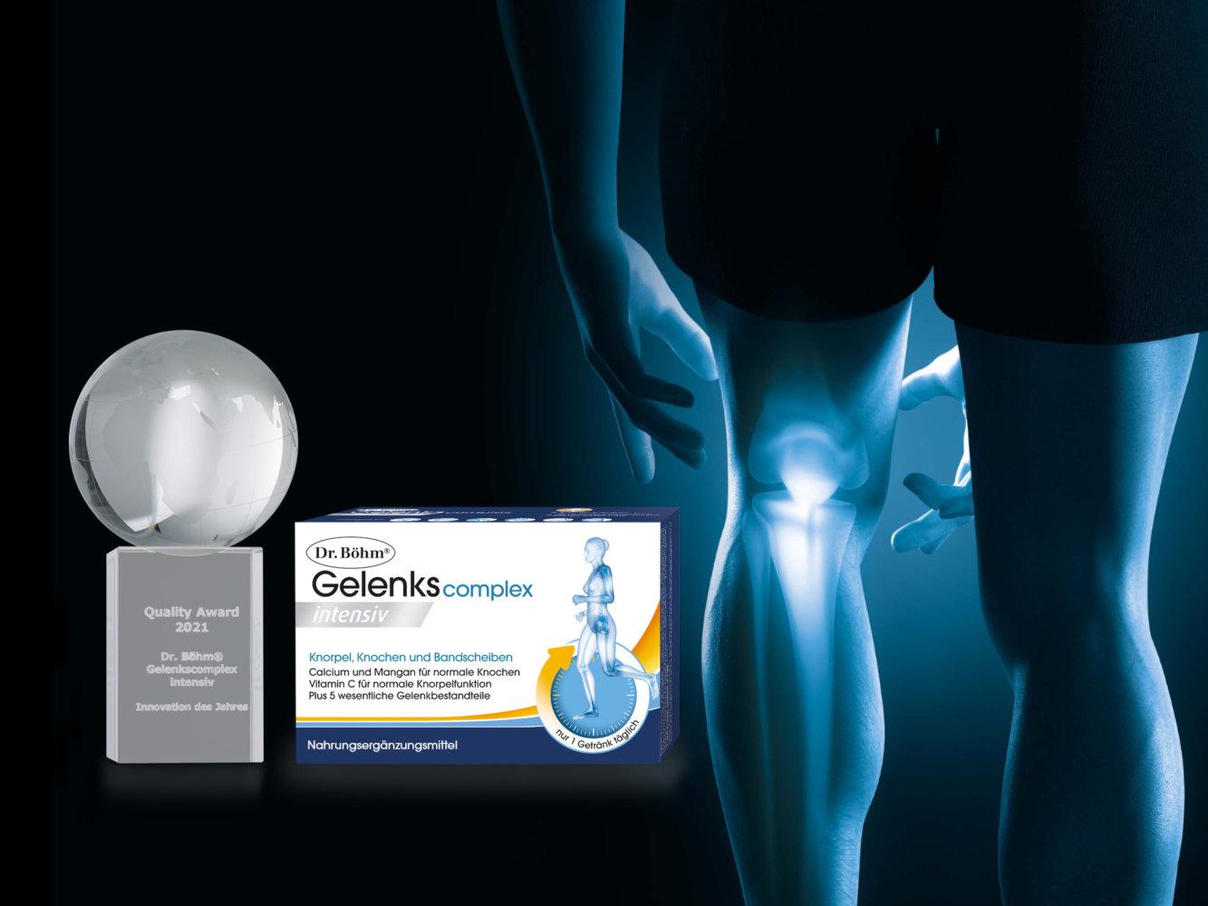 Dr. Böhm® Gelenks complex intensiv wurde zur Innovation des Jahres 2021 gewählt.